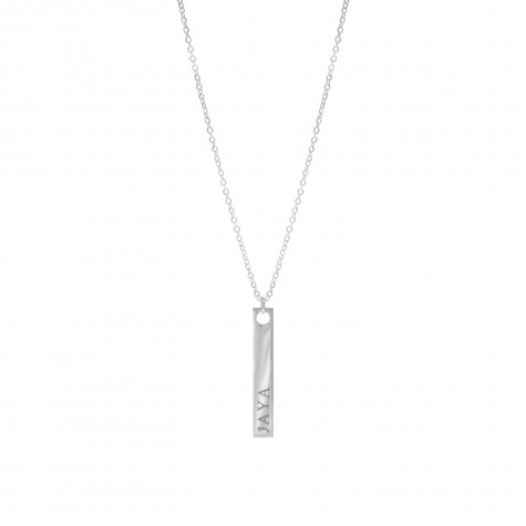 Zilveren ketting met bar graveerbaar