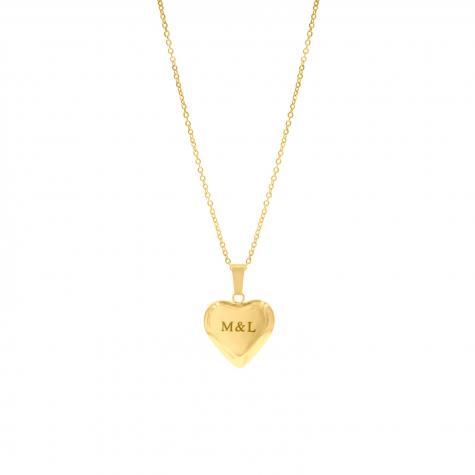 Gouden graveerbare ketting met hart