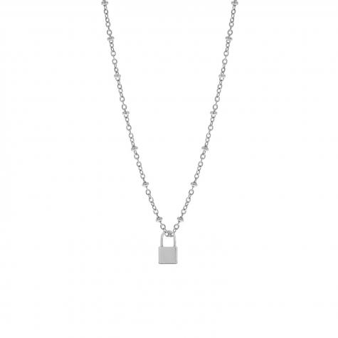Zilveren ketting met slotje