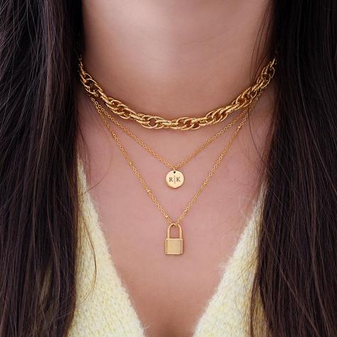 Gouden ketting met slotje