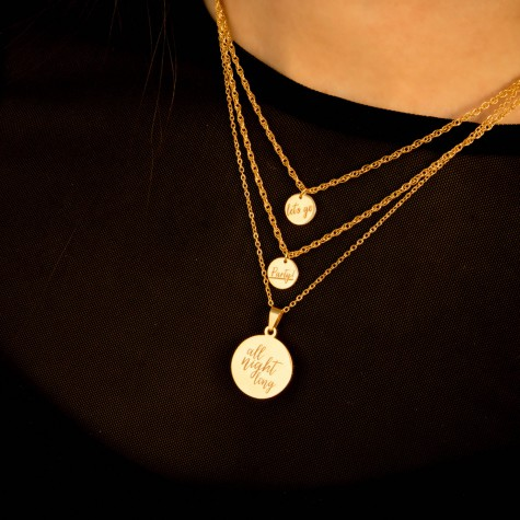 Quote Ketting All Night Long Goud