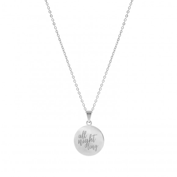 Quote Ketting All Night Long Zilver