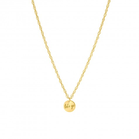 Gouden party quote ketting let's go