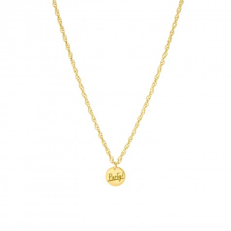 Gouden quote ketting party