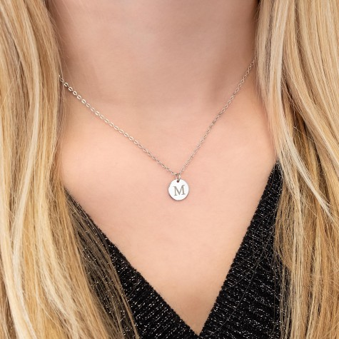 Initial Ketting Zilver
