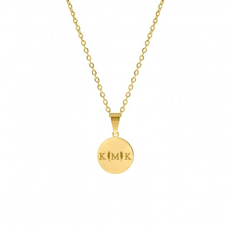 Letter ketting 3 initialen goud