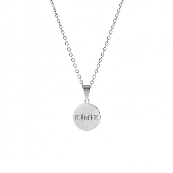 Letter ketting 3 initialen zilver