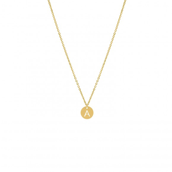 Letter Ketting Coin Goud