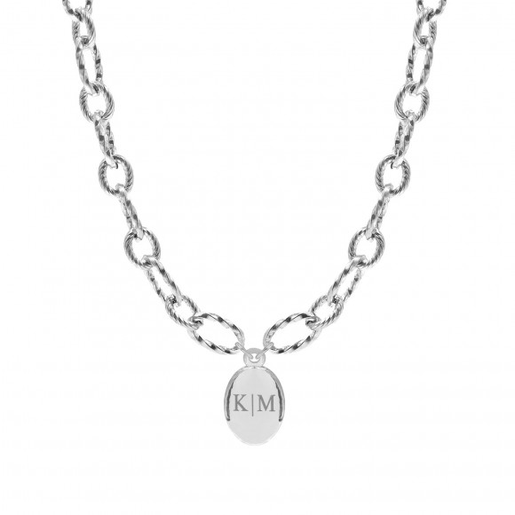 Initialen chain ketting zilver