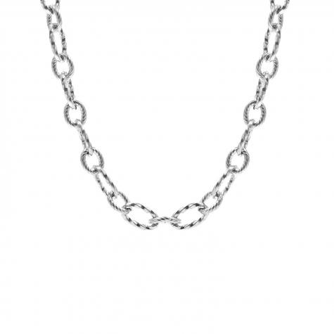Chain ketting zilveren schakels