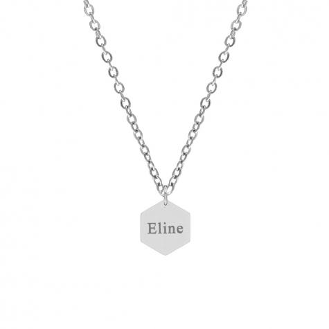 Hanger ketting met naam zilver