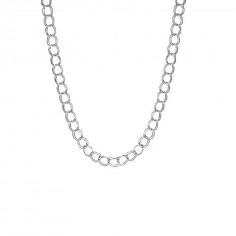 Double chain ketting zilver