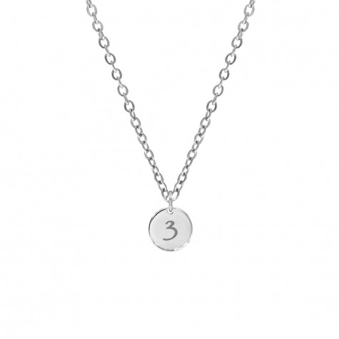 Lucky Number Ketting Zilver