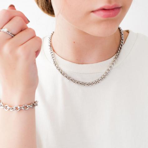 Trendy chain ketting in het zilver