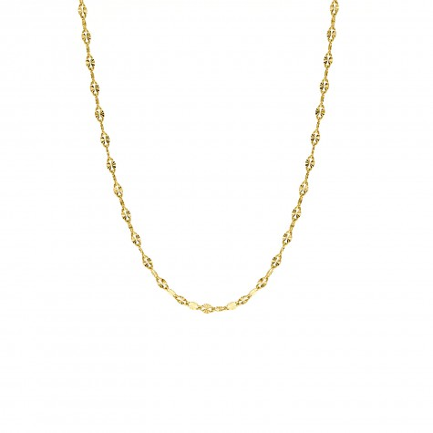 Trendy ketting met schakeltjes goud