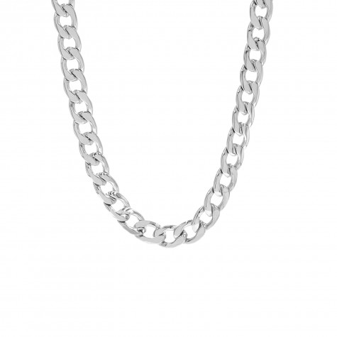 Big chain ketting zilver
