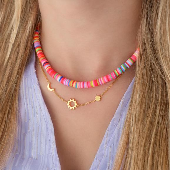 Gekleurde trendy ketting kopen voor een zomerse look