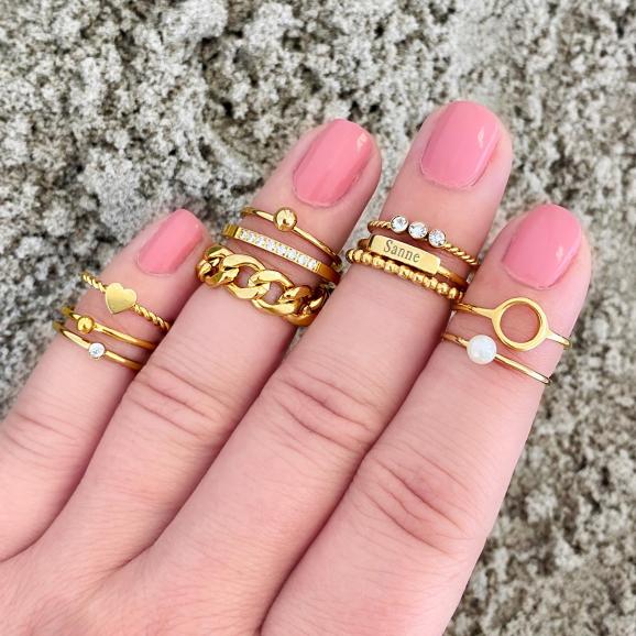 Chain ring goud kleurig