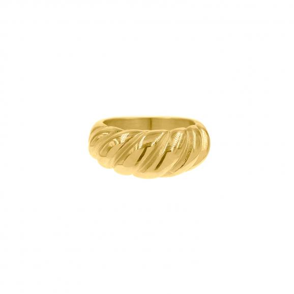 Ring met motief goud kleurig