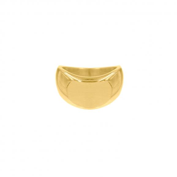Grote grove ring goud kleurig