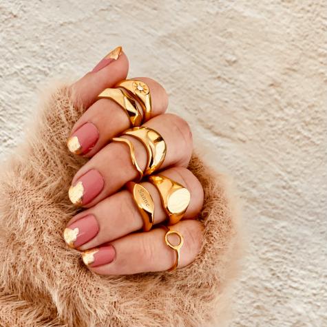Ring met Golven Goud