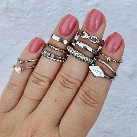 Chunky ring kleur zilver