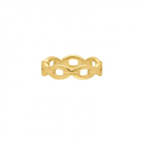 Ring chunky chain kleur goud