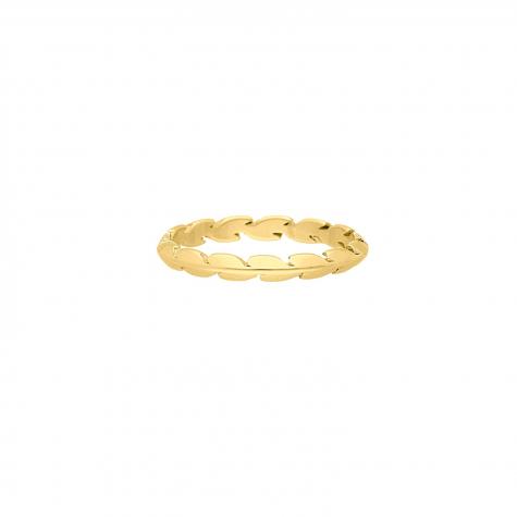 Ring blaadjes goud kleurig