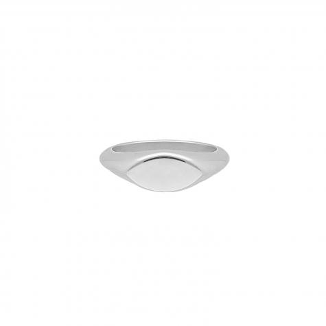Zegelring ovaal kleur zilver