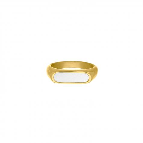 Zegelring Sea Shell kleur goud