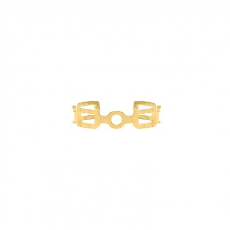Ring verstelbaar chain kleur goud