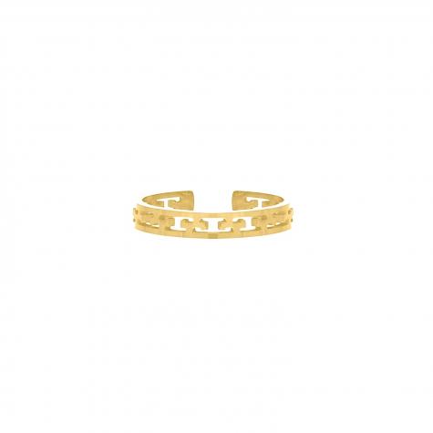 Fijne ring verstelbaar gold plated