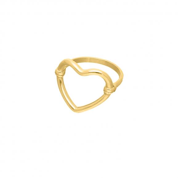 Open heart ring goud kleurig