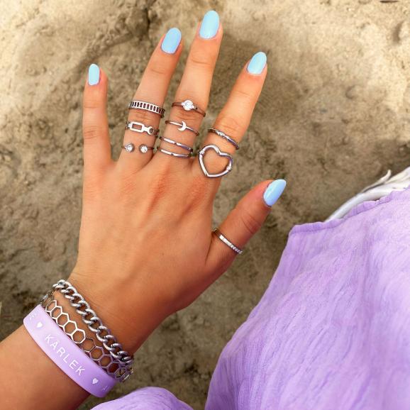 Zilveren ringen mix