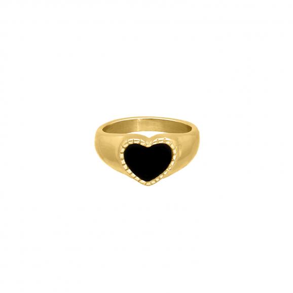 Influencer heart ring goudkleurig