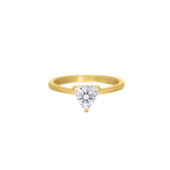Golddigger ring triangle gold plated