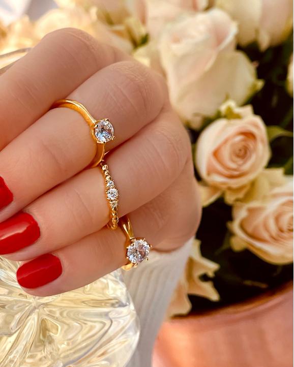 Glamorous ring goud kleurig