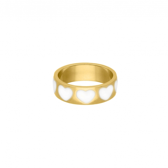 Love ring fashionista goudkleurig