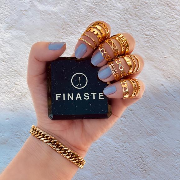 Verstelbare ringen goud kleurig in doosje