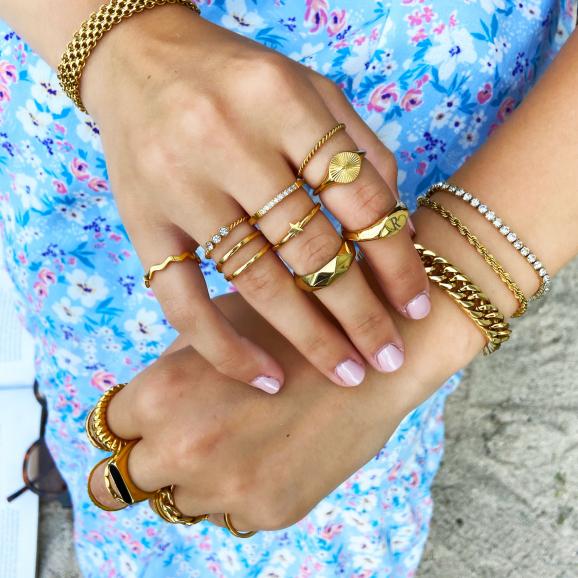 Mooie ringen in het goud