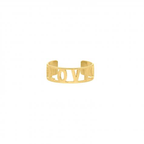 Ring Love Goud Kleurig