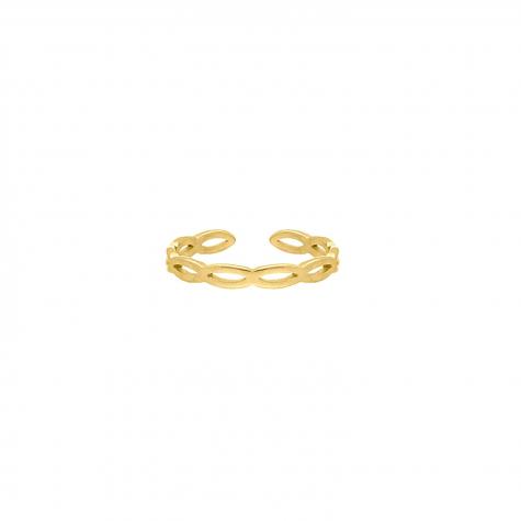 Ring Open Chain Kleur Goud