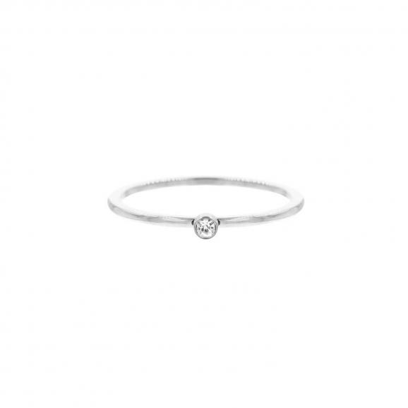 Ring met Steentje kleur zilver