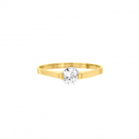 Gouden ring met steentje