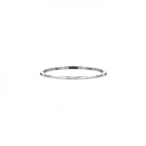 Minimalistische zilveren ring