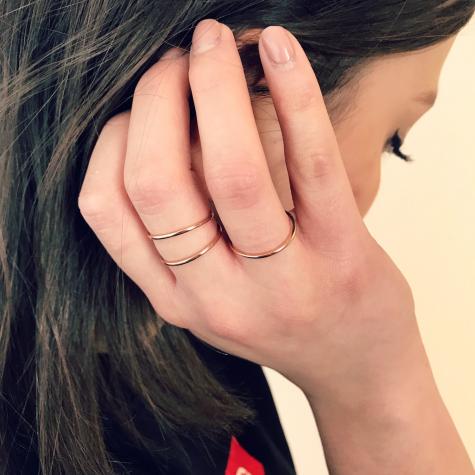 Minimalistische rose gouden ring