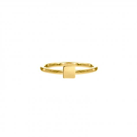 Ring met vierkantje goud