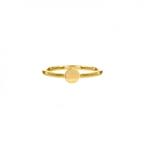 Ring met muntje goud