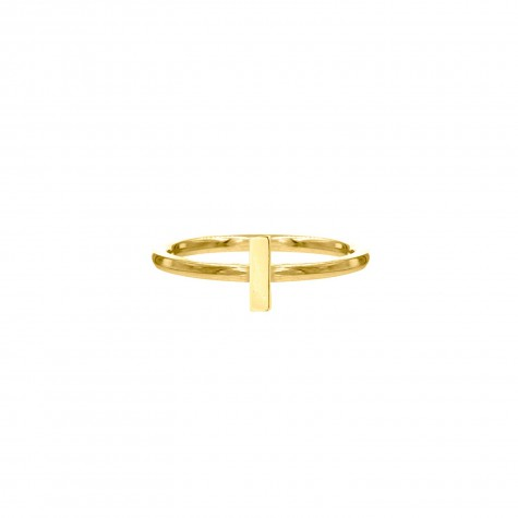 Ring met bar goud