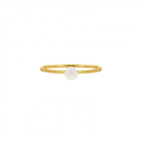 Ring met pareltje goud